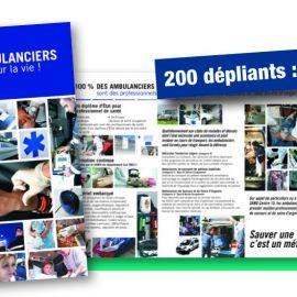 Dépliant Ambulanciers pour la vie !