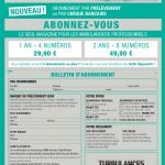 5 abonnements 1 an -